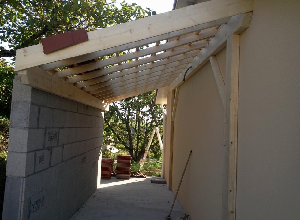 Charpente for Annexe en bois pour maison